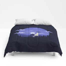 UFO Cow Abduction Comforters