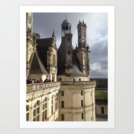 Chateau Chambord Art Print