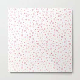 Roses Heart Pattern 02 Metal Print