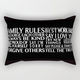 Family Rules Rectangular Pillow
