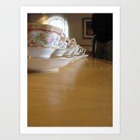Tea Line Art Print
