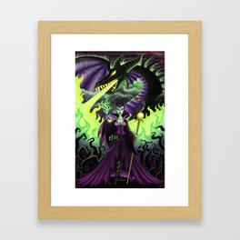 Mistress of All Evil Framed Art Print