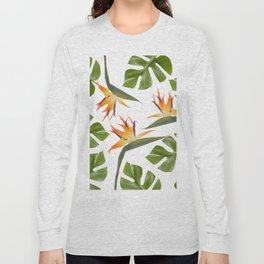 Strelitzia and Monstera white Long Sleeve T-shirt