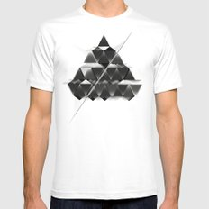PYRAMID_ Mens Fitted Tee MEDIUM White