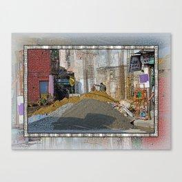 CONSTRUCTION SITE POKHARA NEPAL Canvas Print
