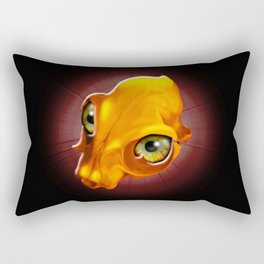 Spooky Yellow Skull with evil Look Rectangular Pillow