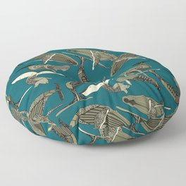 just whales blue Floor Pillow