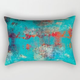 Aztec Turquoise Stone Abstract Texture Design Art Rectangular Pillow