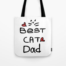 Best cat dad Tote Bag