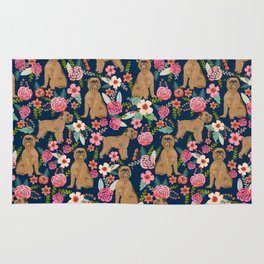 Brussels Griffon florals pattern for dog lovers custom pet friendly gifts for all dog breeds Rug