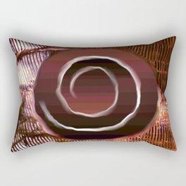 White spiral on brown Rectangular Pillow