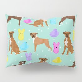 Boxer dog breed marshmallow peeps easter spring traditions cute dog breed gifts boxers Pillow Sham