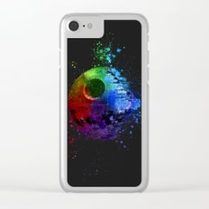 Death Star Splash Painting Clear iPhone Case
