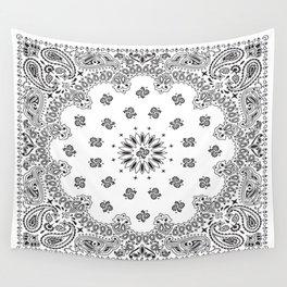 Bandana - White - Paisley - Southwestern Wall Tapestry