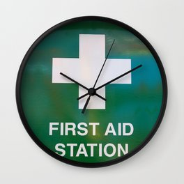 First Aid Station Wall Clock