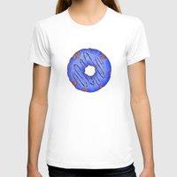 doughnut T-shirts featuring Blue Doughnut by elletra