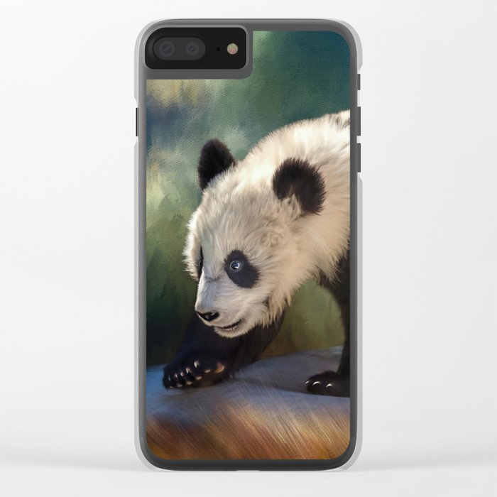 Cute panda bear baby Clear iPhone Case