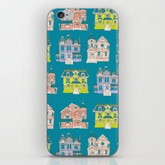 Victorian Homes Pattern iPhone Skin