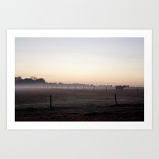 Early Morning on the Farm Art Print