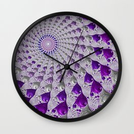 Tunnel Vision Purple Wall Clock