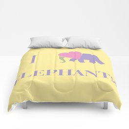 I Heart Elephants Comforters