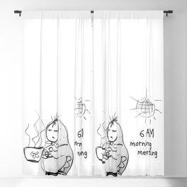 SKETCHY MORNING Blackout Curtain