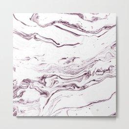 Marble effect paint 02 Metal Print