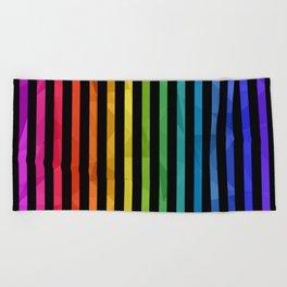 BLACK + RAINBOW Beach Towel