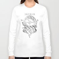 skyrim Long Sleeve T-shirts featuring Skyrim by Darkside-Shirts