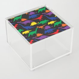 Dinosaurs - Black Acrylic Box