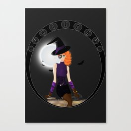 Witch - Vector Canvas Print