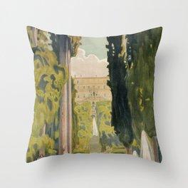 Tivoli Lazio Rome travel ad Throw Pillow