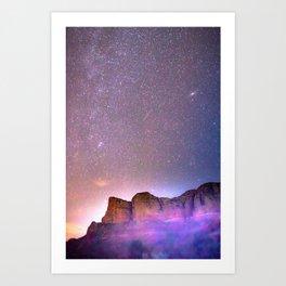 Sedona Arizona Night Sky, Meteors, and Stars Art Print