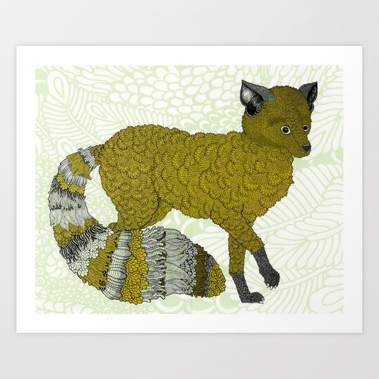 Gold Fox Art Print