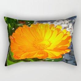 Bright Orange Marigold In Bright Sunlight Rectangular Pillow