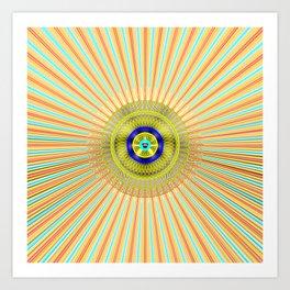 Starburst Radiant Light Art Print