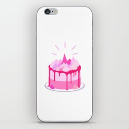 Berry cake with meringues and a horn iPhone Skin