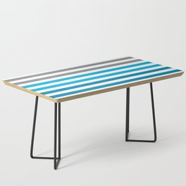 Stripes Gradient - Blue Coffee Table