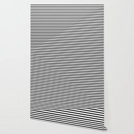 Black And White Stripes Breton Nautical Minimalist Wallpaper