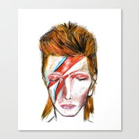 bowie Canvas Prints featuring Bowie by a collection. James Peart