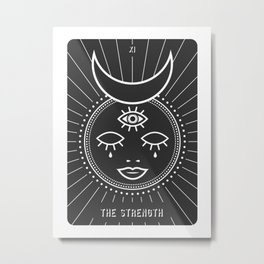 The Strenght Minimal Deck Tarot Metal Print