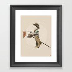 Bang! Framed Art Print