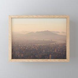 Sunset view over Taipei | Travel Photography | Fine Art Framed Mini Art Print