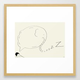 Elephant Dreaming Framed Art Print