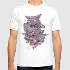 CATMASS LARGE White Mens Fitted Tee