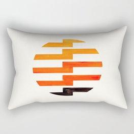 Minimalist Mid Century Circle Frame Orange Zig Zag Colorful Lightning Bolt Geometric Pattern Rectangular Pillow