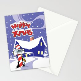 Christmas in North Pole Stationery Cards