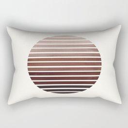 Raw Sienna Mid Century Modern Minimalist Scandinavian Colorful Stripes Geometric Pattern Round Circl Rectangular Pillow