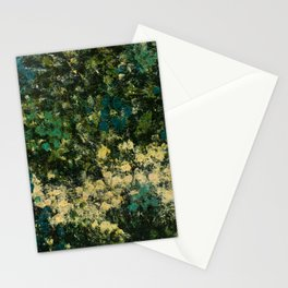 Garden (Green Abstract) Stationery Cards