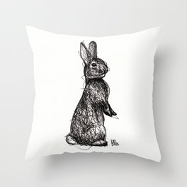 Woodland Creatures: Rabbit Throw Pillow